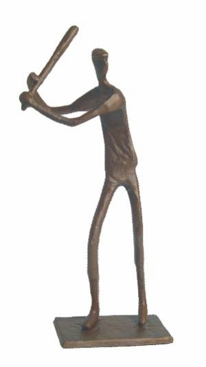 Bronze Baseball Batter Figurine<br>ONLY 1 LEFT!