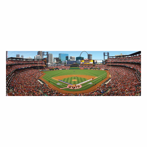 Busch Stadium St. Louis Cardinals 1000pc Panoramic Puzzle<br>ONLY 3 LEFT!