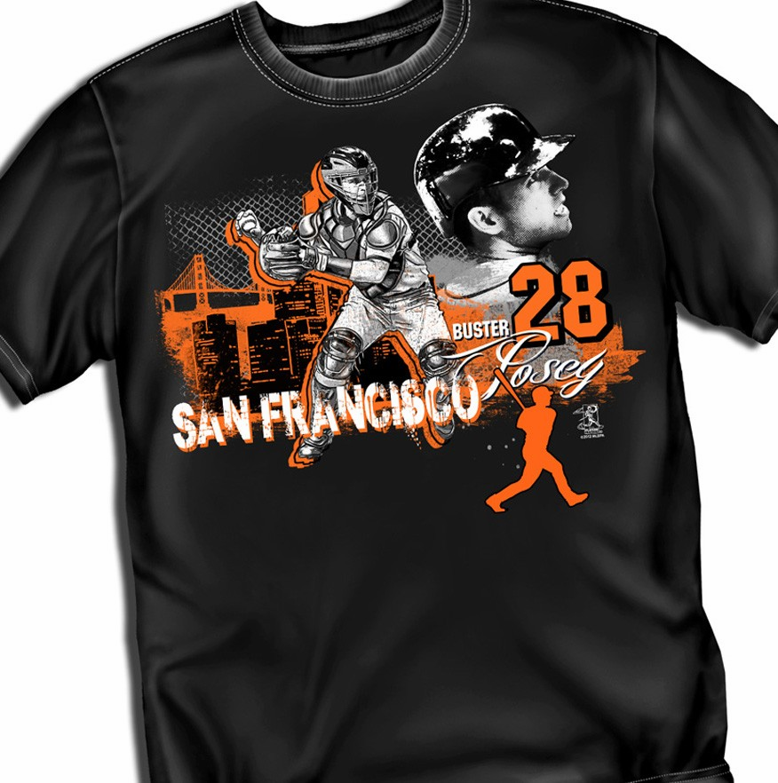 Buster Posey Big City T-Shirt<br>Short or Long Sleeve<br>Youth Med to Adult 4X