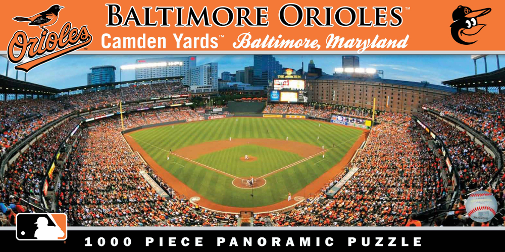 Camden Yards Baltimore Orioles 1000pc Panoramic Puzzle