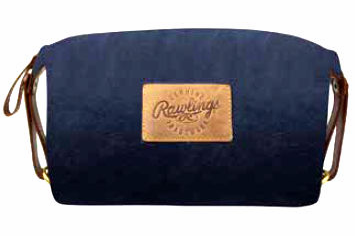 Canvas Collection Baseball Leather Dark Navy Blue Travel Kit by Rawlings