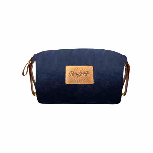 Canvas Collection Baseball Leather Navy Blue Travel Kit by Rawlings