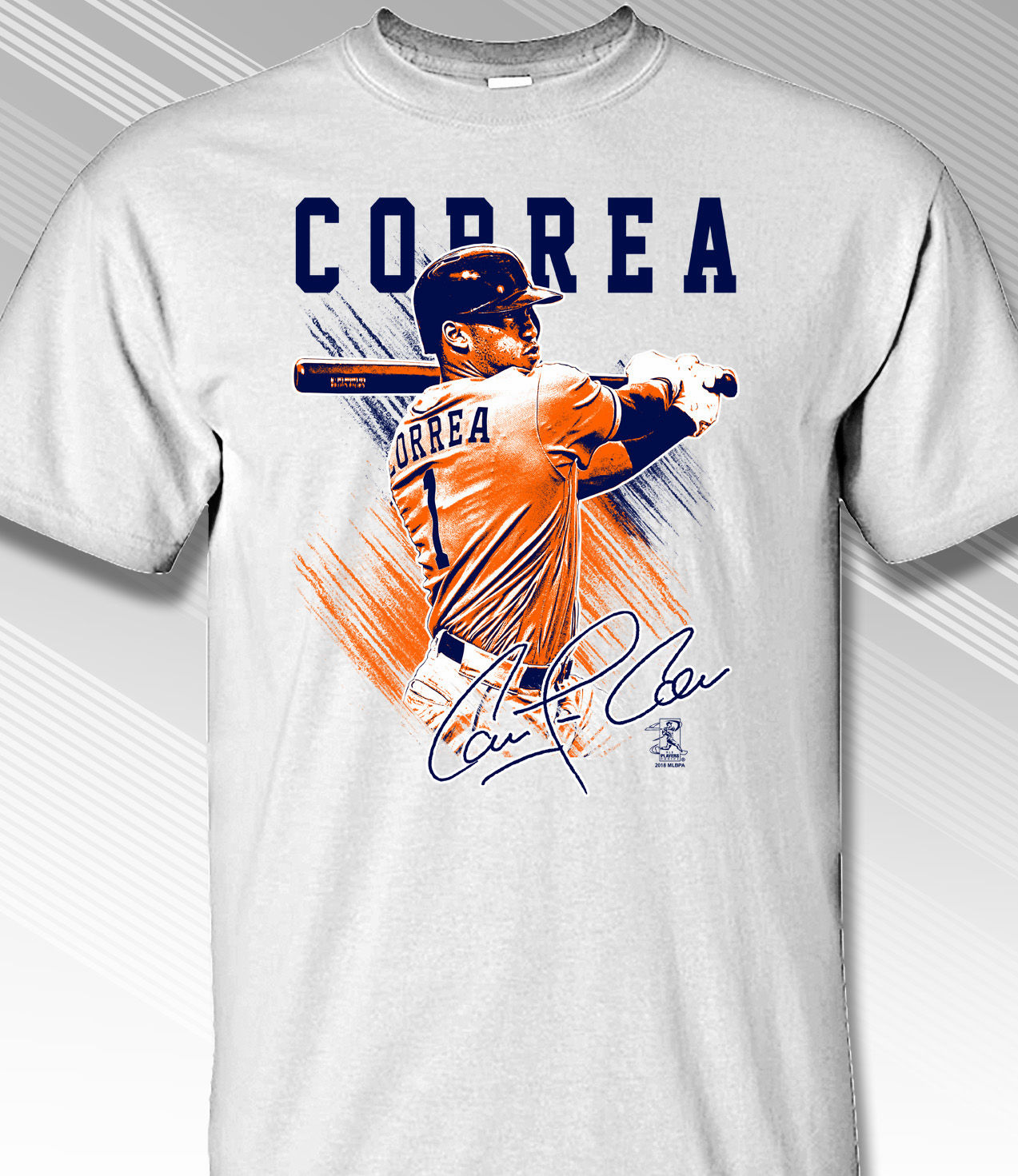 Carlos Correa Houston Pastels T-Shirt<br>Short or Long Sleeve<br>Youth Med to Adult 4X