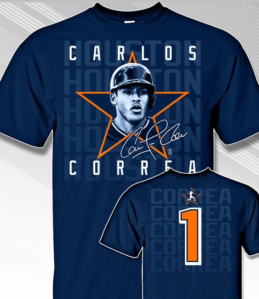 Carlos Correa Star Power T-Shirt<br>Short or Long Sleeve<br>Youth Med to Adult 4X