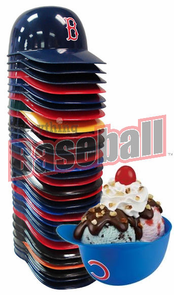 Case of 600 Baseball Team 8oz Ice Cream Sundae Helmet Snack Bowls