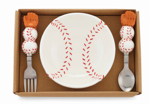 Ceramic Baseball Feeding Set