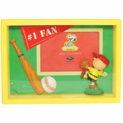 Charlie Brown #1 Fan 3.5x5 Shadow Box Baseball Frame