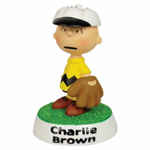 Charlie Brown Baseball Figurine