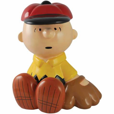 Charlie Brown Ceramic Baseball Bank