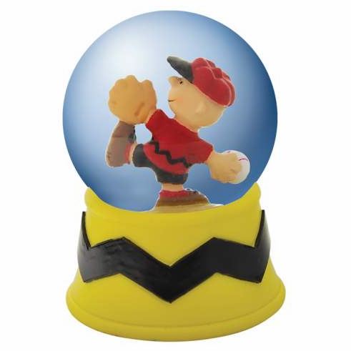 Charlie Brown Pitching Mini Water Globe