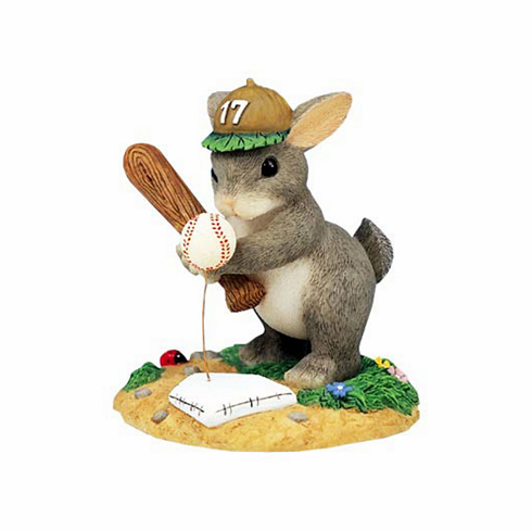 Charming Tails Ready to Take a Swing At It LE Figurine<br>ONLY 1 LEFT!