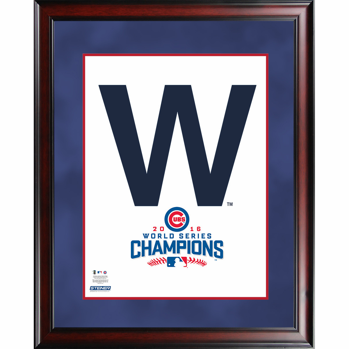"""Chicago Cubs 2016 World Series Champions 16"""" x 20"""" """"The W"""" Framed Collage by Steiner"""