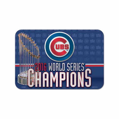 "Chicago Cubs 2016 World Series Champions 20"" x 30"" Welcome Mat<br>LESS THAN 8 LEFT!"