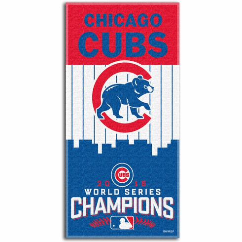 """Chicago Cubs 2016 World Series Champions 28"""" x 58"""" Beach Towel<br>ONLY 1 LEFT!"""