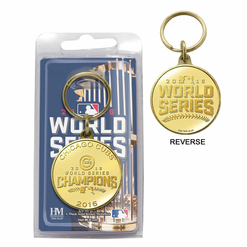 Chicago Cubs 2016 World Series Champions Bronze Medallion Key Chain<br>LESS THAN 6 LEFT!