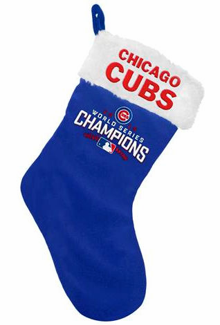 Chicago Cubs 2016 World Series Champions Christmas Stocking<br>ONLY 2 LEFT!