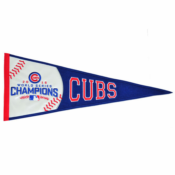 Chicago Cubs 2016 World Series Champions Embroidered Pennant<br>LESS THAN 6 LEFT!