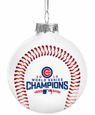 Chicago Cubs 2016 World Series Champions Glass Ball Ornament<br>ONLY 5 LEFT!