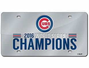 Chicago Cubs 2016 World Series Champions Laser Cut Auto Tag License Plate<br>ONLY 1 LEFT!