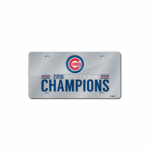 Chicago Cubs 2016 World Series Champions Laser Cut Auto Tag License Plate<br>ONLY 4 LEFT!