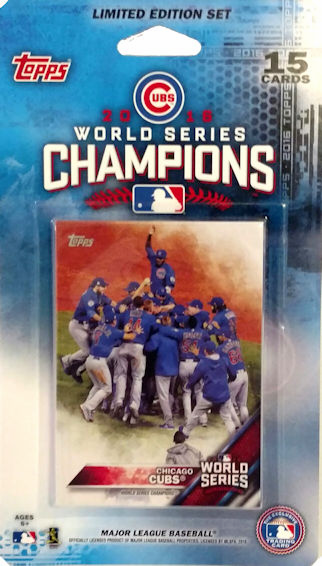 Chicago Cubs 2016 World Series Champions Limited Edition Blister Pack by Topps<br>LESS THAN 12 LEFT!