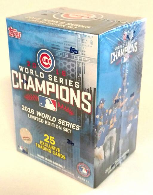 $3 $5 $7 SALE!<br>Chicago Cubs 2016 World Series Champions Limited Edition Topps Blaster Box Set<br>LESS THAN 10 LEFT!
