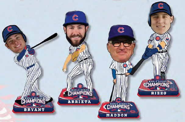 Chicago Cubs 2016 World Series Champions Mini Big Head Bobble 4pc Set<br>LESS THAN 4 LEFT!