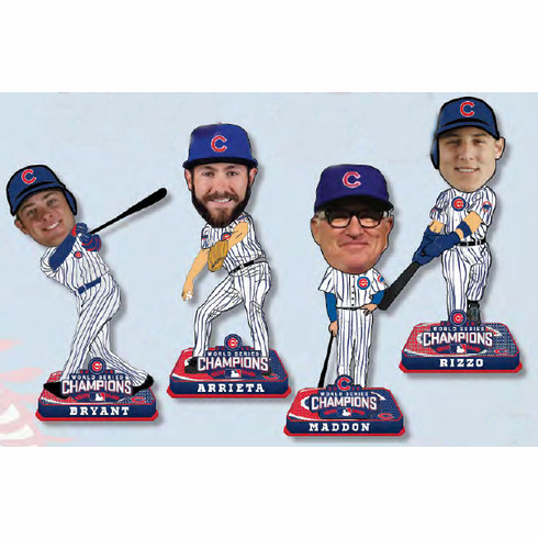 Chicago Cubs 2016 World Series Champions Mini Big Head Bobble 4pc Set<br>LESS THAN 5 LEFT!