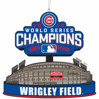 Chicago Cubs 2016 World Series Champions Stadium Ornament<br>IN STOCK NOW!<br>LESS THAN 10 LEFT!