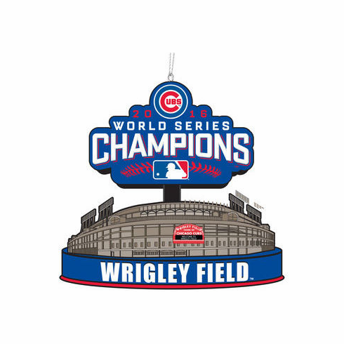 Chicago Cubs 2016 World Series Champions Stadium Ornament<br>ONLY 2 LEFT!