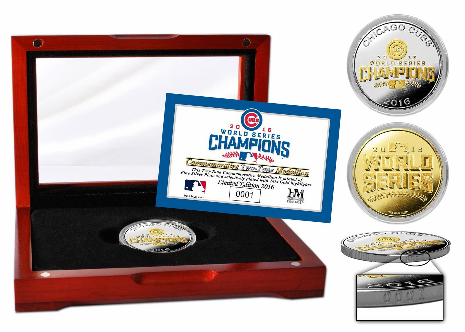 Chicago Cubs 2016 World Series Champions Two-Tone Mint Coin