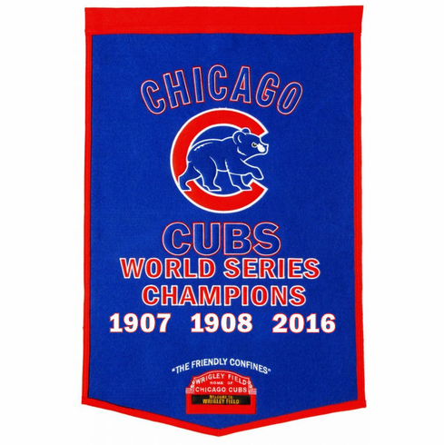 Chicago Cubs 2016 World Series Champions Wool Dynasty Banner<br>ONLY 3 LEFT!