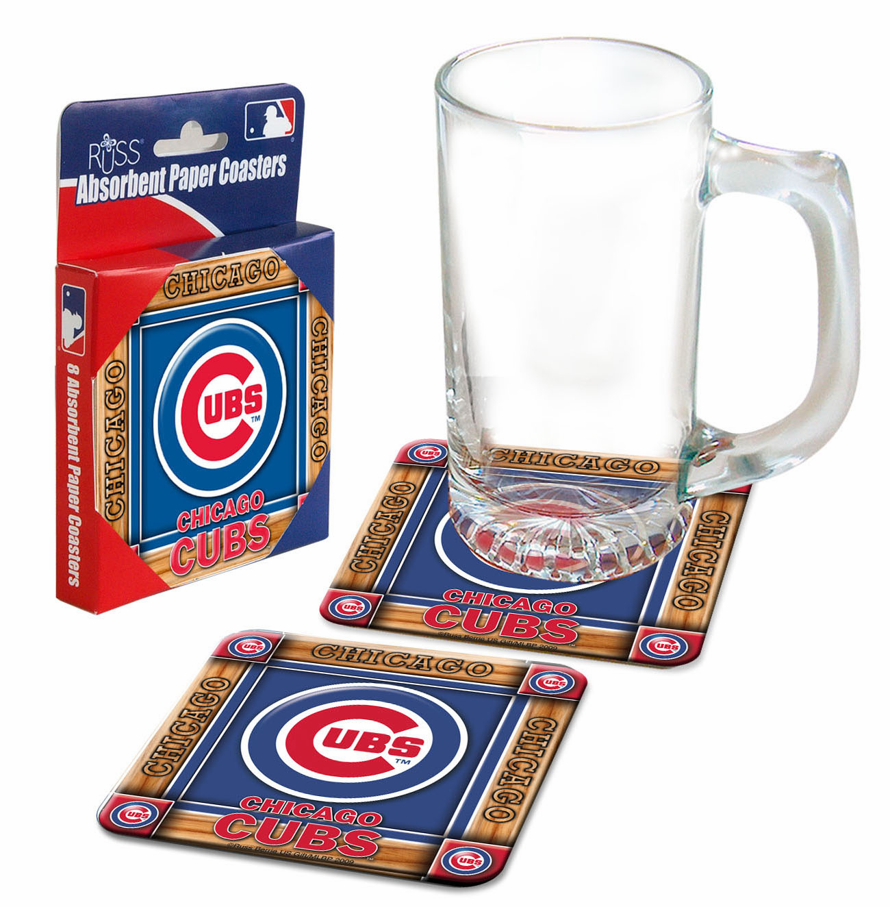 Chicago Cubs Absorbent Paper Coaster Set<br>ONLY 1 SET LEFT!