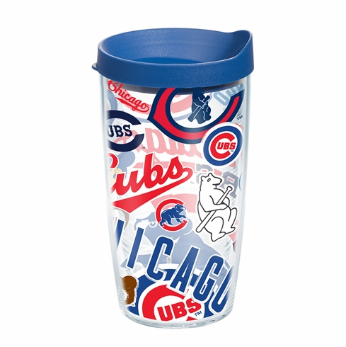 Chicago Cubs All Over Wrap Set of Cups with Lids by Tervis