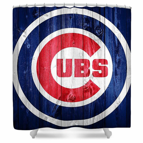 Chicago Cubs Barn Door Artistic Baseball Shower Curtain