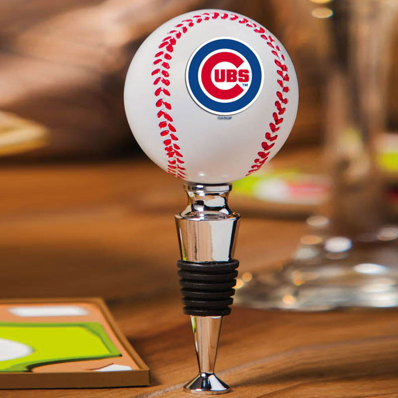 Chicago Cubs Baseball Bottle Stopper<br>ONLY 1 LEFT!