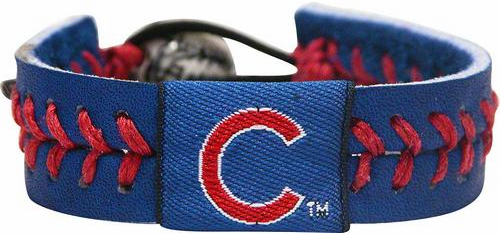 Chicago Cubs<br>Baseball Seam Team Colored Bracelet