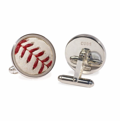 Chicago Cubs Game Used Baseball Cuff Links<br>ONLY 1 LEFT!