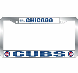 Chicago Cubs Chrome License Plate Frame<br>ONLY 3 LEFT!