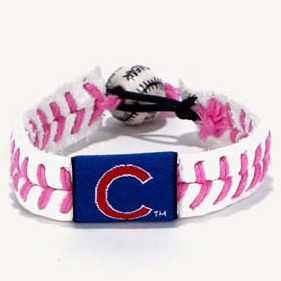 Chicago Cubs Pink Baseball Seam Bracelet<br>LESS THAN 6 LEFT!