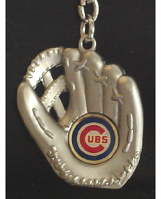 Chicago Cubs<br>Sculpted Baseball Glove Key Chain
