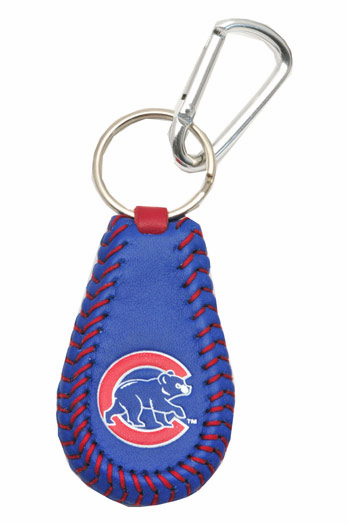 Chicago Cubs<br>Team Color Baseball Seam Keychain<br>ONLY 2 LEFT!