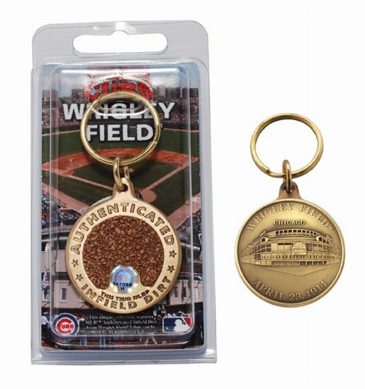 Chicago Cubs Wrigley Field Bronze Infield Dirt Keychain