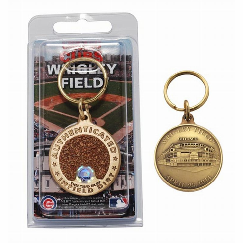 Chicago Cubs Wrigley Field Bronze Infield Dirt Keychain<br>LESS THAN 10 LEFT!