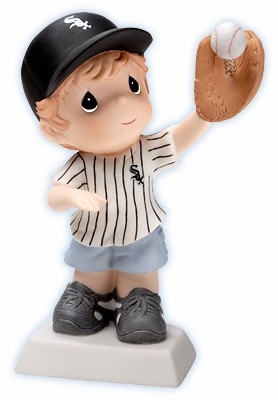 Chicago White Sox Boy Catching Baseball Retired Figurine by Precious Moments<br>ONLY 3 LEFT!