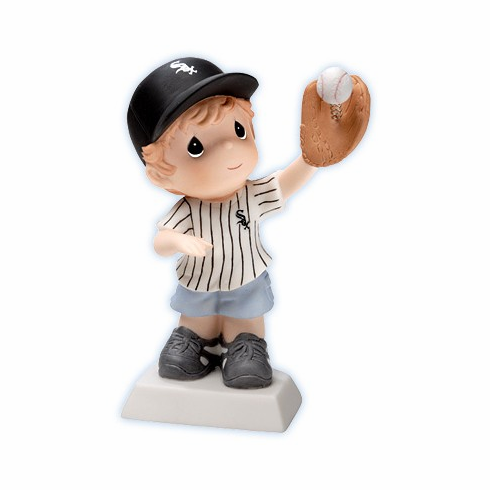 Chicago White Sox Boy Catching Baseball Retired Figurine by Precious Moments<br>ONLY 4 LEFT!