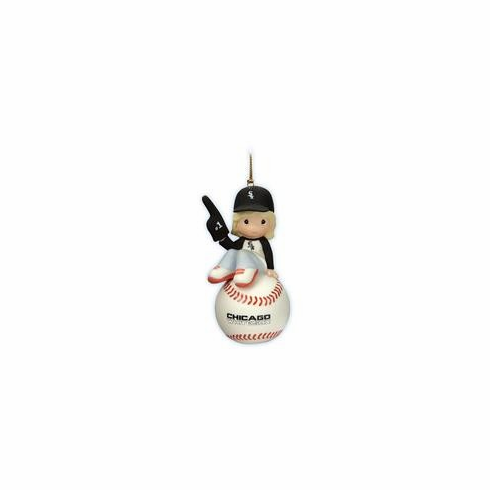 Chicago White Sox I'm Your Number One Fan! Baseball Girl Retired Ornament by Precious Moments<br>ONLY 1 LEFT!