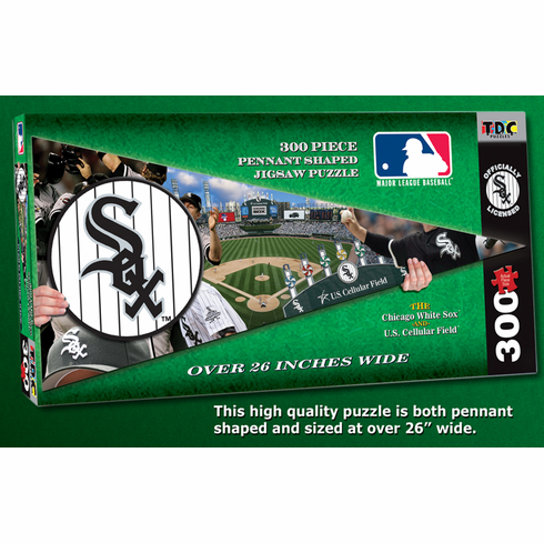 Chicago White Sox MLB Pennant Shaped 300pc Puzzle