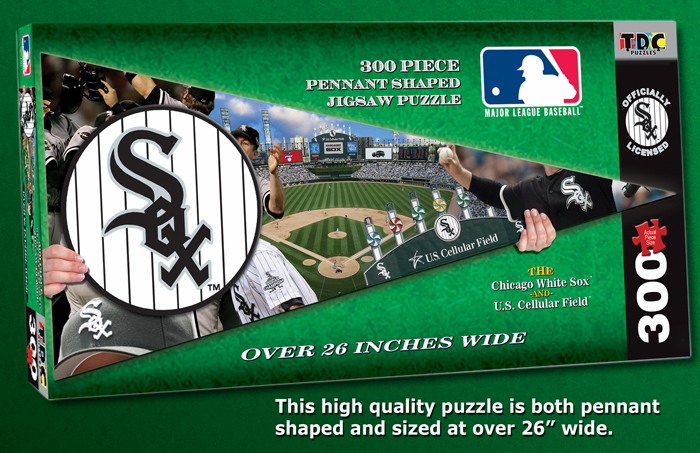 Chicago White Sox MLB Pennant Shaped 300pc Puzzle<br>ONLY 2 LEFT!