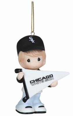 Chicago White Sox My Team's A Home Run Baseball Boy Retired Ornament by Precious Moments<br>ONLY 1 LEFT!